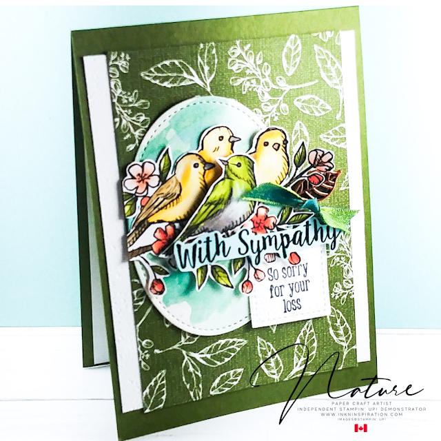 bird ballad with sympathy card
