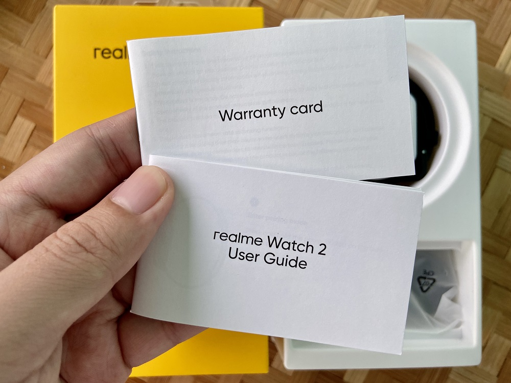 realme Watch 2 User Guide and Warranty Card Safety Guide