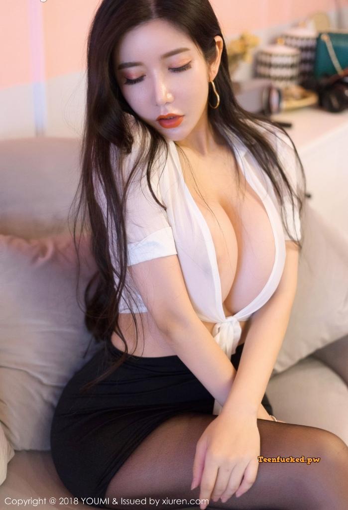 YouMi Vol.222 MrCong.com 034 wm - YouMi Vol.222: Người mẫu 心妍小公主 (45 ảnh)