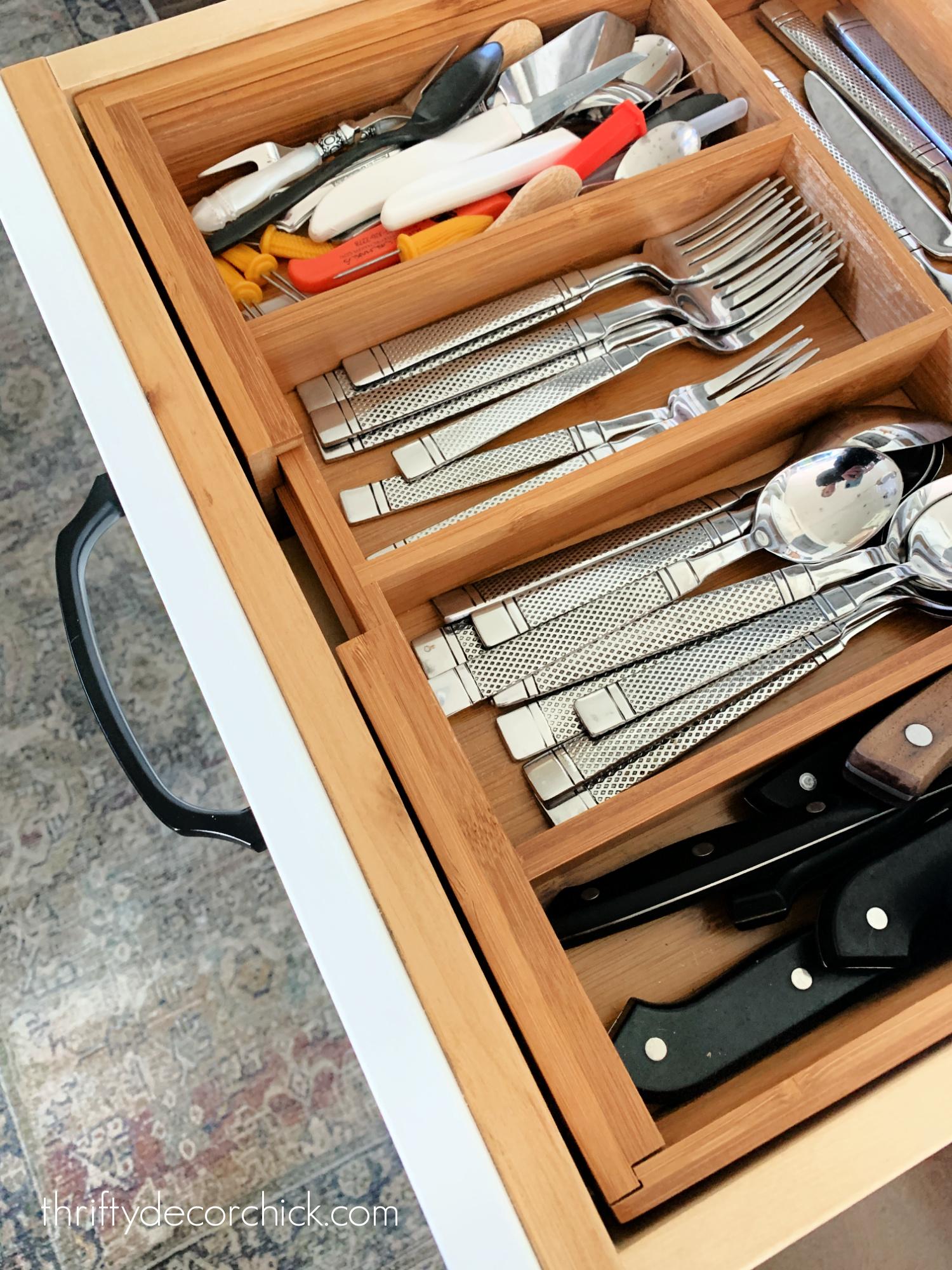 wood utensil organizer