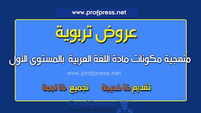 تجميع-لعرض-منهجية-مكونات-مادة-اللغة-العربية--بالمستوى-الأول