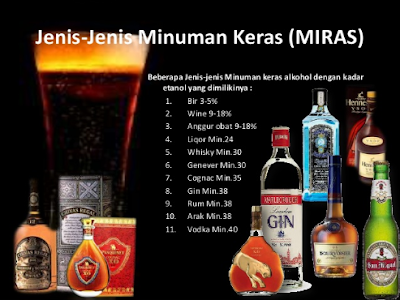 minuman yang mengandung alkohol