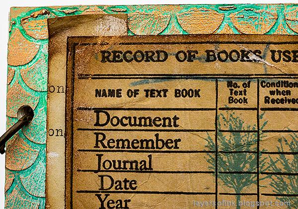 Layers of ink - Textured Vintage Notebook Tutorial by Anna-Karin Evaldsson.