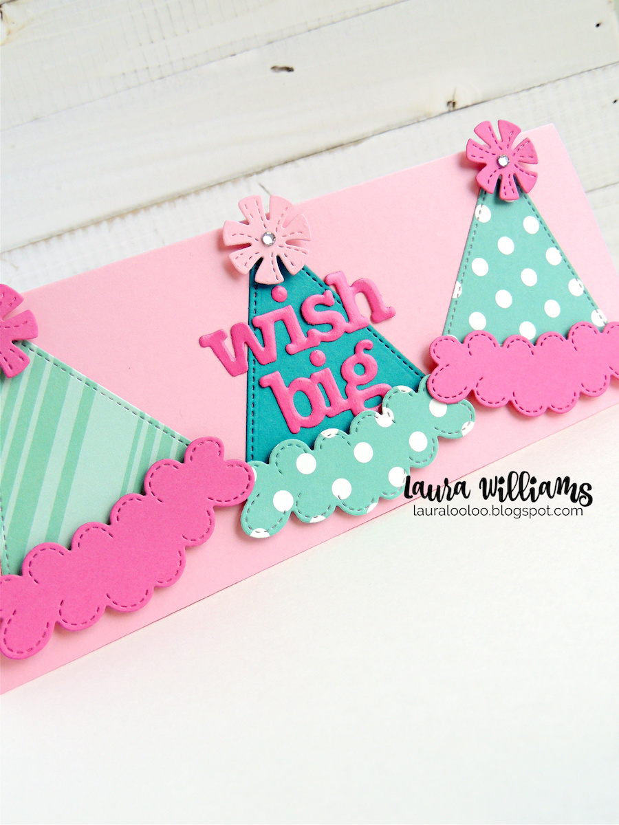 Make handmade birthday cards that are festive and fun to celebrate your favorite people. Using dies from Impression Obsession, like this adorable party hat, plus the number and birthday word dies, you'll create birthday cards and party crafts for everyone on your list. Stop by my blog to see more ideas and inspiration for handmade birthday card ideas.