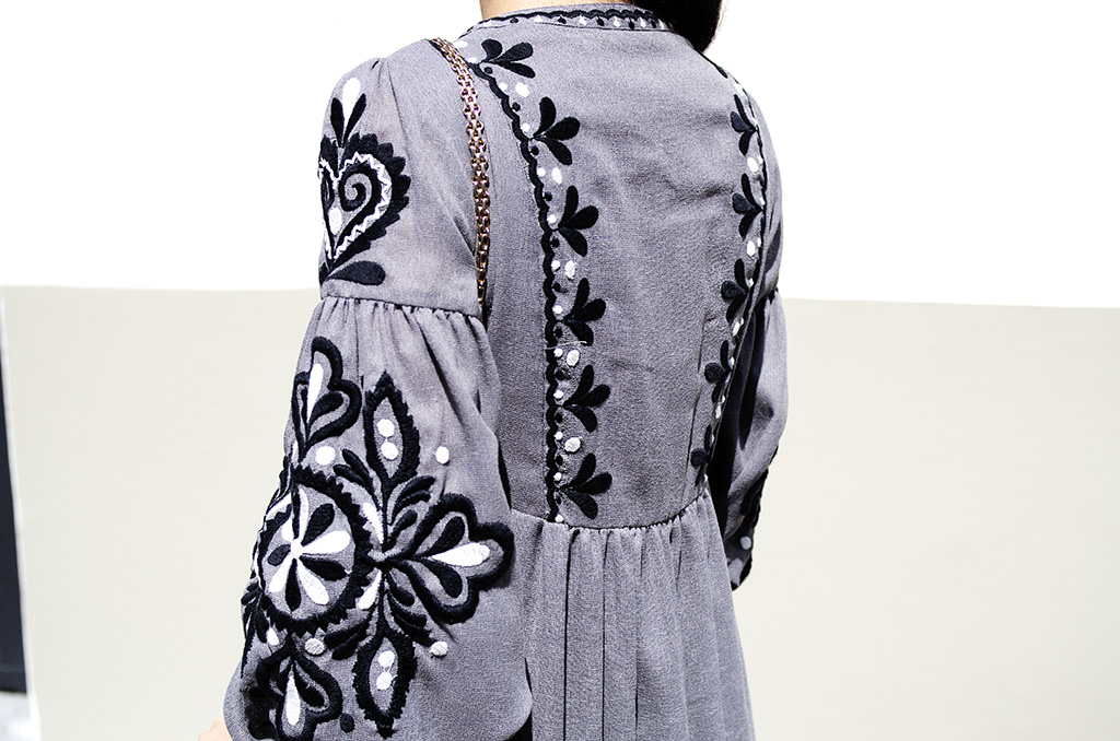 Elizabeth l Grey embroidered boho dress blog mode l Zara Chanel Celine l THEDEETSONE l http://thedeetsone.blogspot.fr