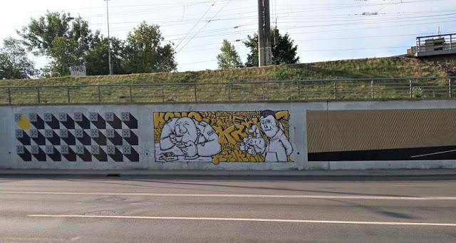 street art Seikon, Szyman e Krik Kong vilnius