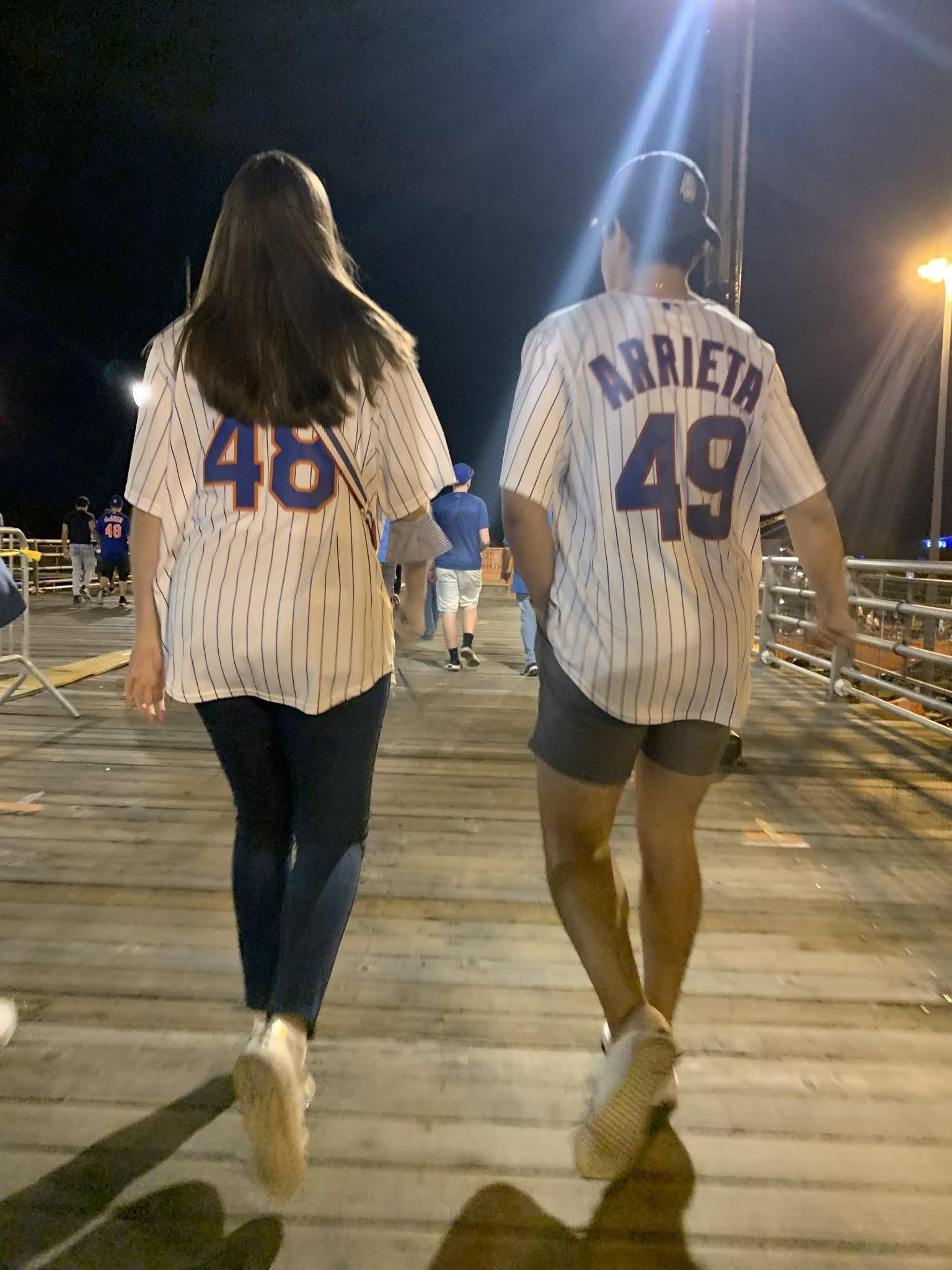 Jerseys, baseball game, mets game, cub game