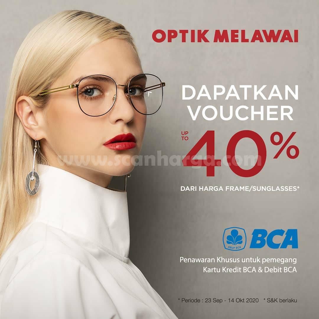 Promo Optik Melawai Dapat Voucher hingga 40% Transaksi dengan Kartu Kredit & Debit BCA
