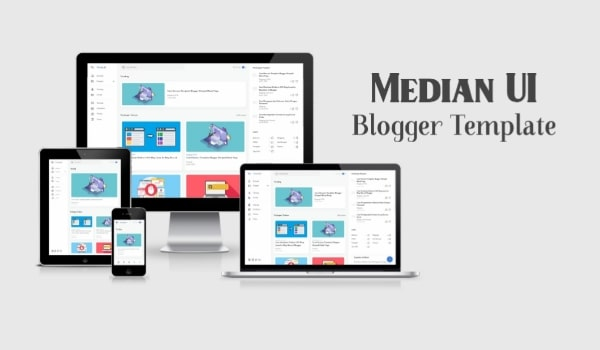 Free Median UI Responsive Blogger Template