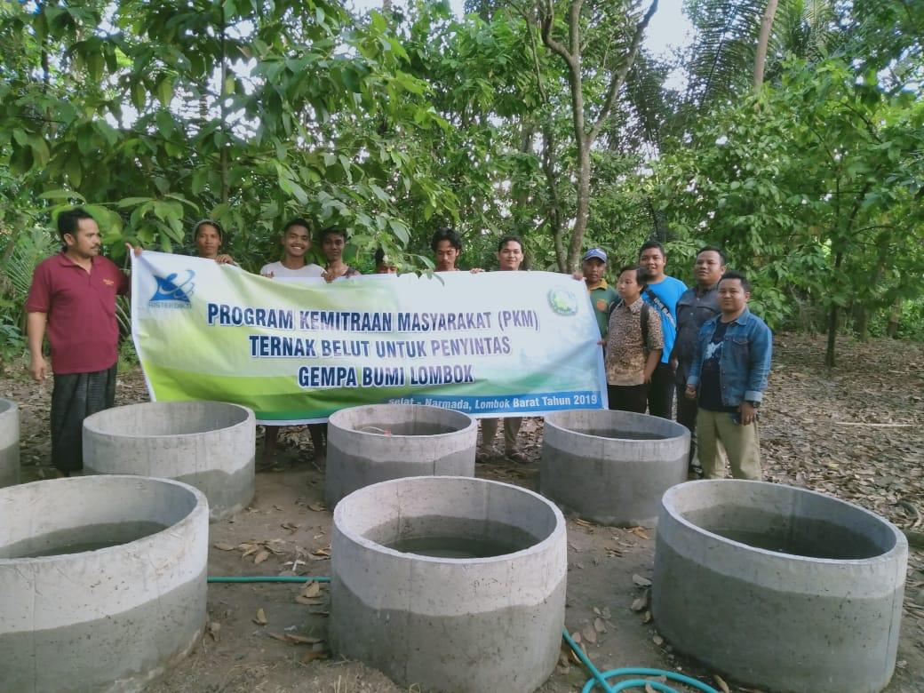 Pelatihan Ternak Belut untuk Penyintas Gempa Bumi Lombok