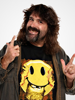 mick foley, have a nice day, smiley face