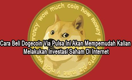 Beli Dogecoin Via Pulsa – Dogecoin adalah salah jenis mata uang digital yang sangat populer bagi pengikut komunitas Cryptocurrency yang hobi melakukan investasi saham di dunia internet.  Untuk melakukan investasi saham di dunia internet dengan jenis Dogecoin tentunya dibutuh modal awal.     Nah, beli Dogecoin ini terkadang membuat dilema karena harga bisa naik dan bisa juga turun. Tapi kalau masalah metode beli Dogecoin sebenarnya sangat mudah karena banyak cara untuk beli Dogecoin.  Kalian bisa beli Dogecoin melalui situs web exchange sepeti Indodax maupun yang lainnya, tetapi beberapa diantara situs web exchange yang menyediakan pembelian Dogecoin tersebut umumnya hanya dapat menerima pembayaran via rekening bank saja.  Cara Beli Dogecoin Via Pulsa  Sebagai alternatif yang dapat kalian gunakan untuk beli Dogecoin sebenarnya bisa juga via pulsa.   Membeli Dogecoin termasuk aman hingga saat artikel ini kami publish, pastinya kalian bisa terhindar dari penipuan dalam transaksi jual beli Dogecoin jika menggunakan metode ini.  Ada dua jenis cara beli Dogecoin via pulsa yang kami bagikan untuk kalian pada artikel ini, yaitu menggunakan KedaiCrypto dan XP Sindonesia.  Cara Beli Dogecoin Via Pulsa Di KedaiCrypto KedaiCrypto adalah Telegram yang mempersiapkan berbagai jenis kebutuhan Cryptocurrency untuk kalian, seperti voucher Indodax ataupun Dogecoin.   Agar dapat melakukan transaksi pembelian Dogecoin di KedaiCrypto, kalian diwajibkan untuk melakukan top up saldo terlebih dahulu.   Nah, top up saldo nya bisa dilakukan dengan memanfaatkan pulsa seuruh provider (telkomsel, xl, 3, dll). Oh ia, kalian juga bisa top up saldo atau deposit menggunakan E-Wallet (Dompet Digital).   Cara Beli Dogecoin Via Pulsa Di XP SINDONESIA XP SINDONESIA juga sama seperti KedaiCrypto, kedua aplikasi ini adalah marketplace Cryptocurrency yang bisa kalian manfaatkan untuk melakukan pembelian Dogecoin via Pulsa dengan syarat melakukan top up atau deposit menggunakan pulsa terlebih dahulu.   Sete