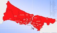 Adalar ilçesinin nerede olduğunu gösteren harita