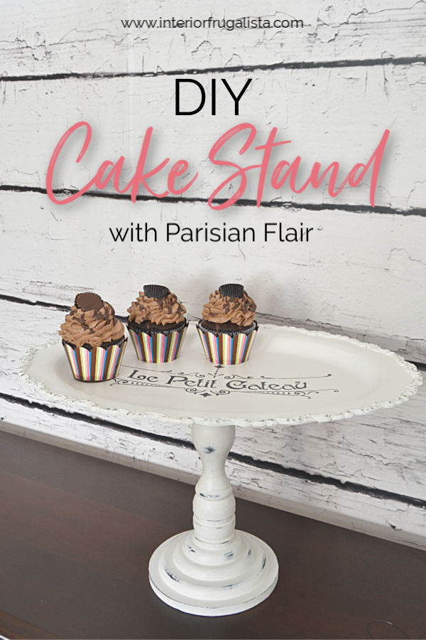 DIY Petit Cateau Cake Stand From Thrift Store Finds
