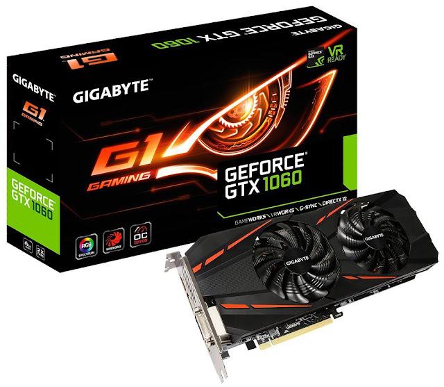 Gigabyte GeForce GTX 1060 G1 Gaming OC 6G DDR5