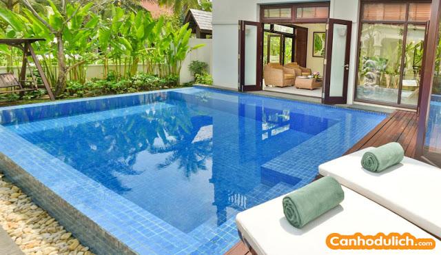 Mỗi villa đều có hồ bơi riêng