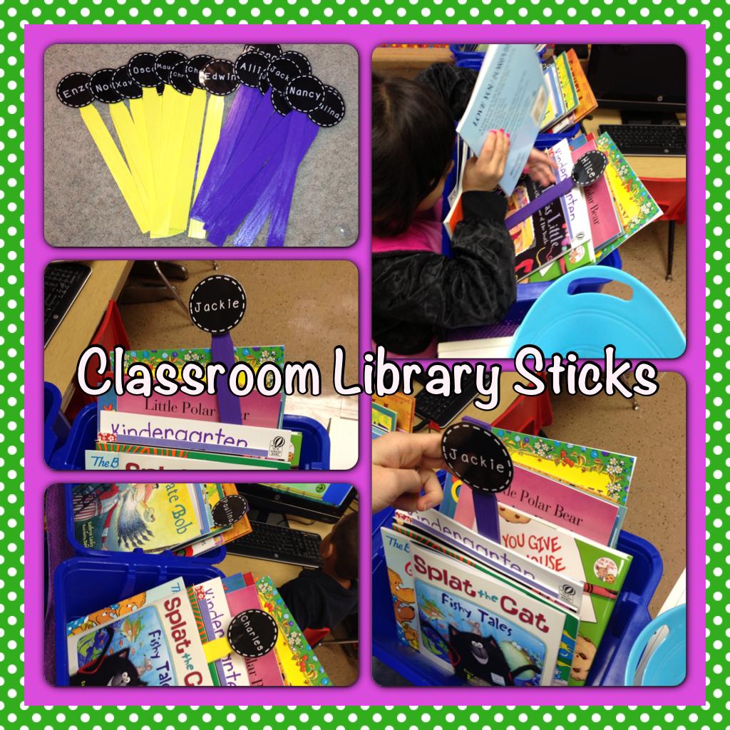 Classroom Library Sticks