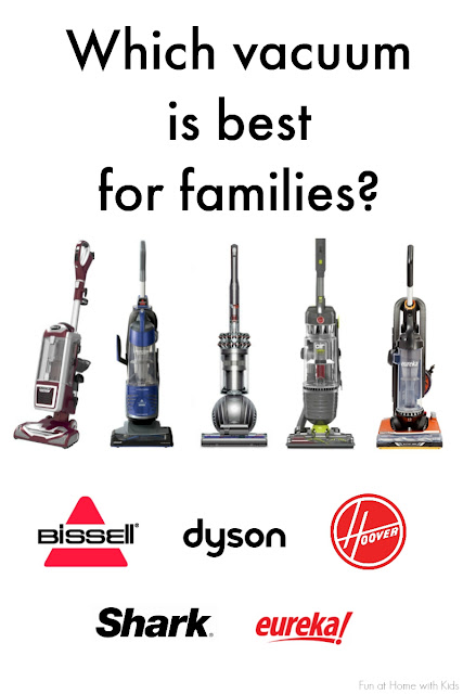 Bissell, Dyson, Hoover, Shark, and Eureka vacuums are put to the test to see which does best at keeping up with the mess created by a 6 year old who loves crafting, a 3 year old who spills food constantly, and two long-haired cats.