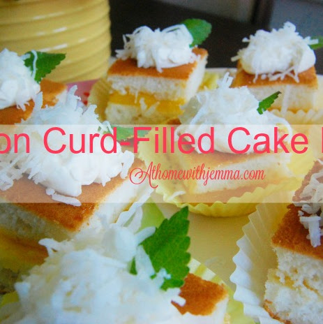 Lemon Curd-Filled Cake Bites
