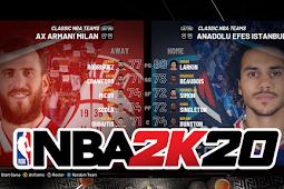 NBA 2K20 - Armani Milan vs Anadolu Efes Gameplay #PCBasket2K20