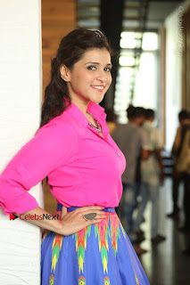 Actress Mannar Chopra in Pink Top and Blue Skirt at Rogue movie Interview  0143.JPG