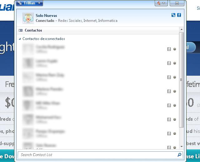 Aplicaciones para la red Facebook - Trillian - Solo Nuevas