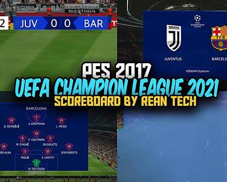PES 2017 UEFA Champion League Scoreboard 2021