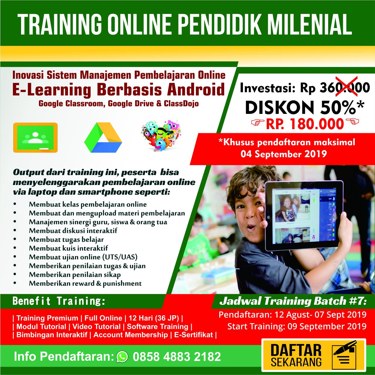 Training Inovasi E-Learning Berbasis Smartphone
