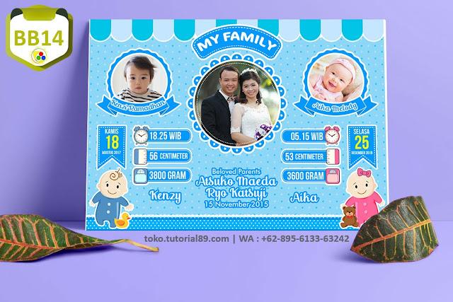 Biodata Bayi Costume BabyTwins Kode BB14 | Bayi Kembar