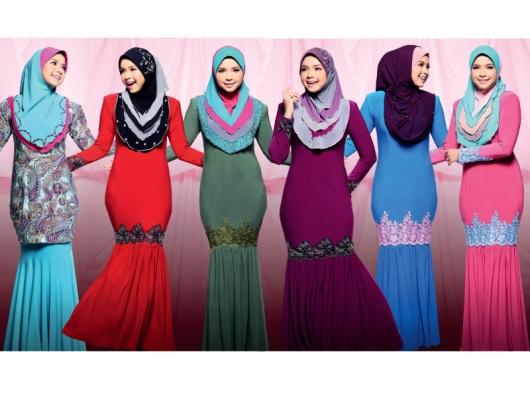 Sedikit Perkongsian Mengenai Padanan Warna Tudung Baju Sempena Raya