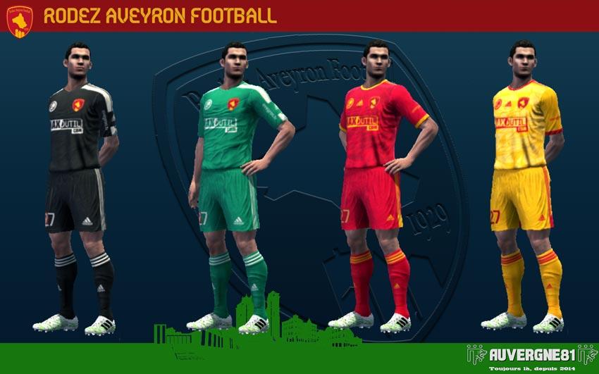 Kits Rodez Aveyron Football 2021-2022 For PES 2013