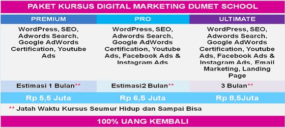 Kursus SEO & Internet Marketing DUMET School
