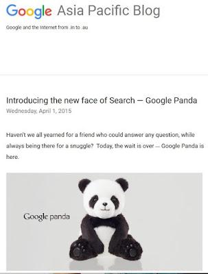 Poisson d'Avril 2015 de Google : Google Panda