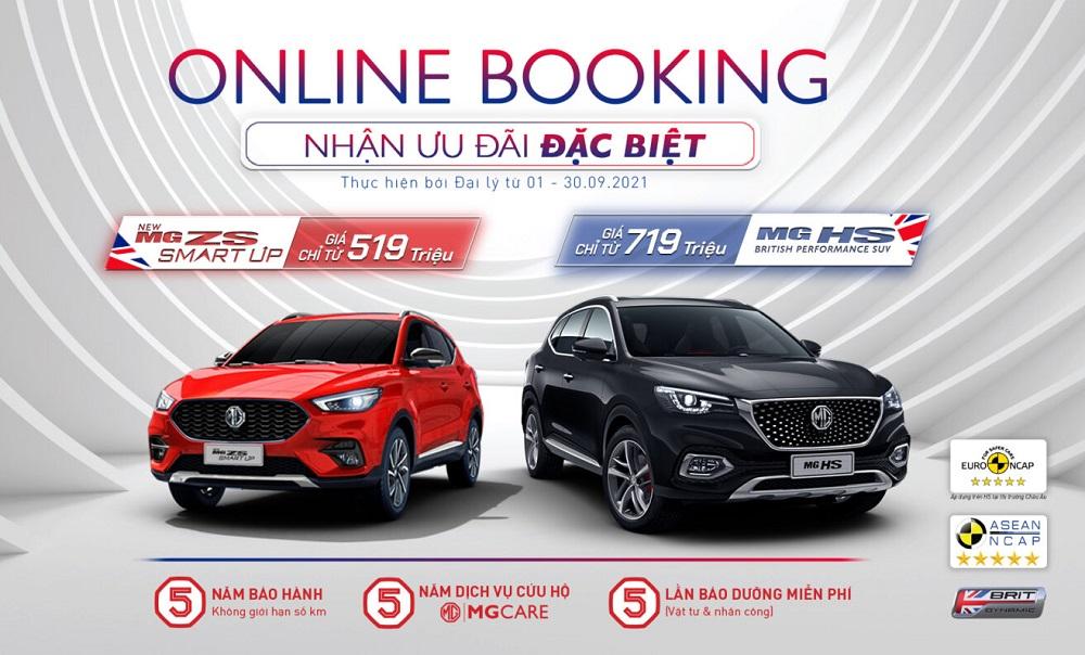 Đặt mua xe MG online, nhận nhiều ưu đãi đặc biệt