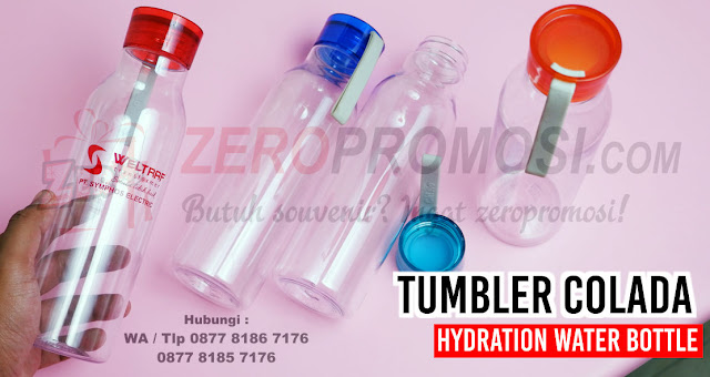 Souvenir Tumbler Colada Hydration Water Bottle 500ml Chielo, Souvenir Botol Plastik Colada Hydration Water Bottle