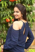 Poojita Super Cute Smile in Blue Top black Trousers at Darsakudu press meet ~ Celebrities Galleries 094.JPG
