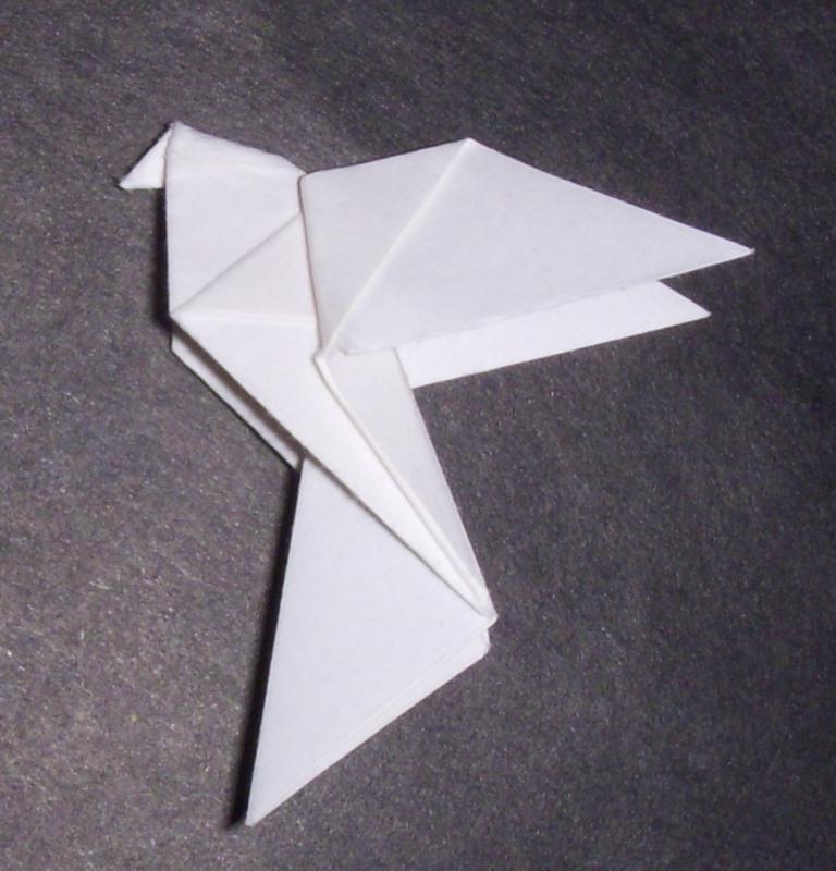 Origami: Origami Dove - photo#7