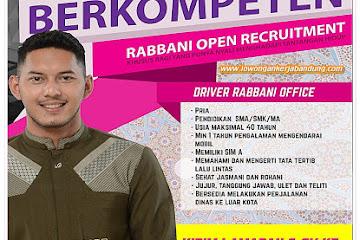Lowongan Kerja Bandung Driver Rabbani Office