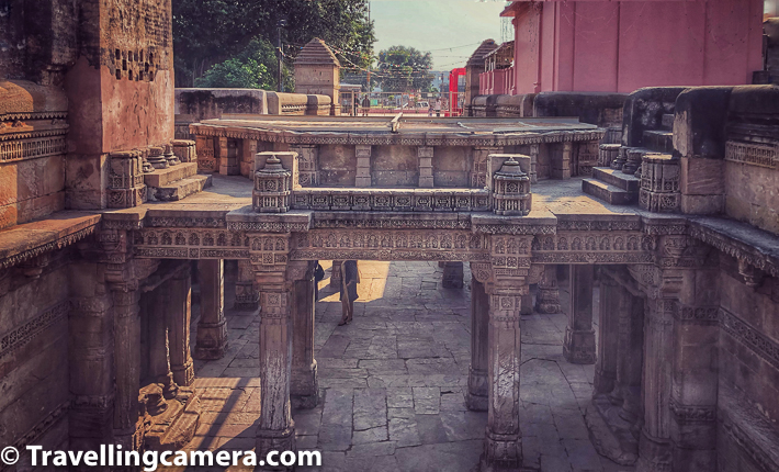 Adalaj Ni Vav is a stepwell located in the village of Adalaj, close to Ahmedabad city and in Gandhinagar district of Gujarat state in India. Adalaj ni Vav was built in 1498 in the memory of Rana Veer Singh by his wife Queen Rudadevi. It is a fine example of Indian architecture work and a fantastic attraction for tourists visiting this part of Gujrat.    Related Blogpost from Gujrat - Travelling Camera in Gujarat || Exploring old Ahmedabad on foot