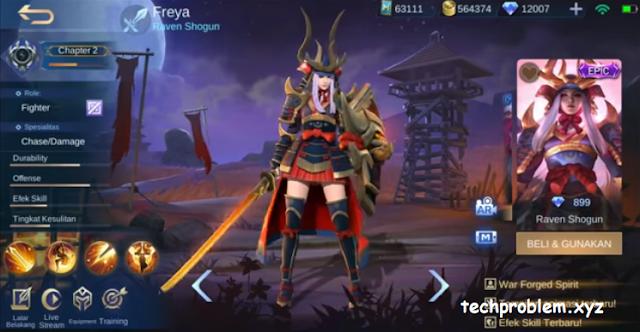 Skin Epic Freya Raven Shogun Gratis