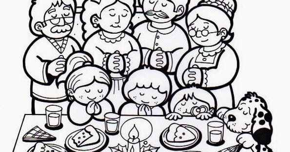 El Rincn de las Melli DIBUJO Bendecimos la mesa navidea