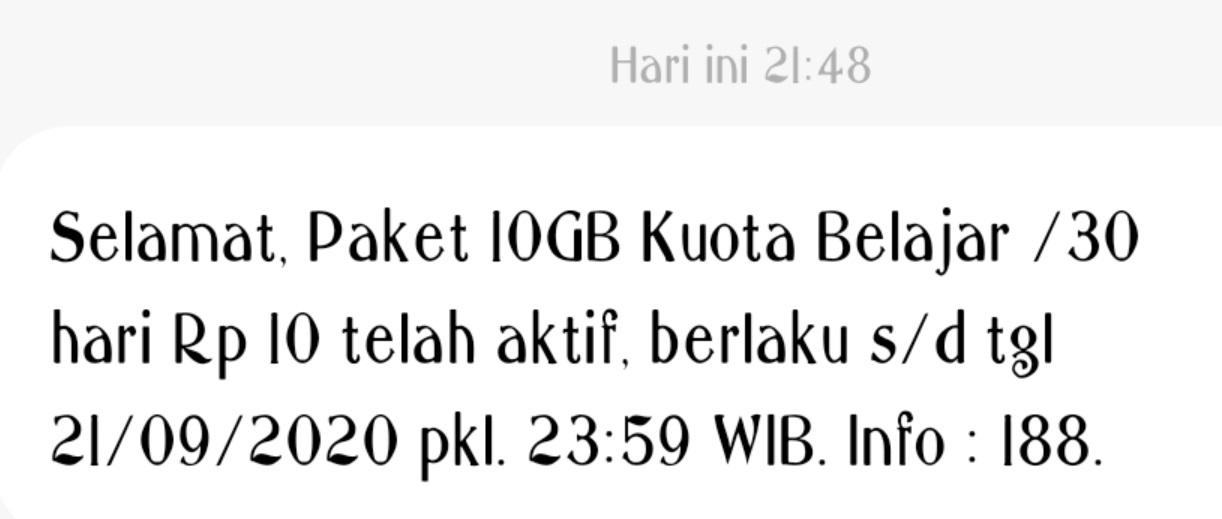 gambar Paket Internet 10 GB cuma Rp10