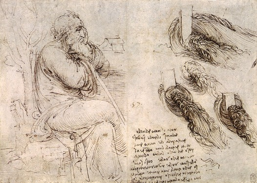 Old Man with Study of Water