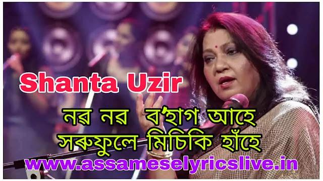 Naba Naba Bohag Ahe Lyrics By Shanta Uzir