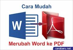 Cara Mudah Merubah Word ke Pdf Tanpa Software
