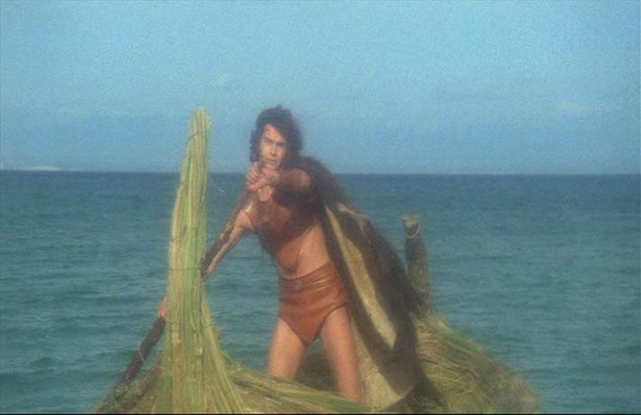 Ilias (Andrea Occhipinti) eilt zur Rettung. CONQUEST (Lucio Fulci, 1983)