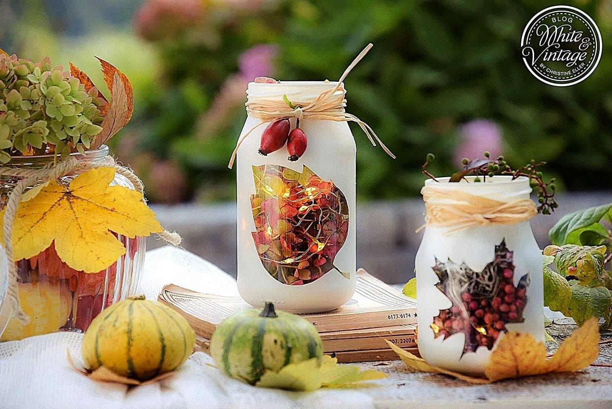 Leuchtendes Marmeladenglas basteln