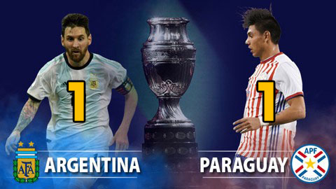 كووورة توب - الارجنتين تتعادل أمام الباراغواي بهدف لكل فريق