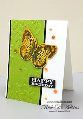 Use the Butterfly Brilliance and Many Messages Stamp Sets to create this fun Birthday Card.  Click here to go to my blog for a Free PDF Tutorial for this project!