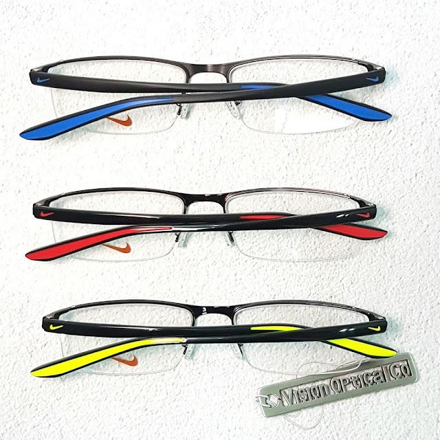 NIKE 7921IN 半框金屬彩臂眼鏡